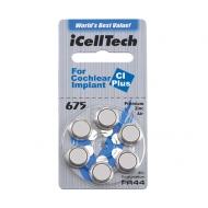 6 ks Baterie do procesorů ke kochleárním implantátům ICellTech A675P